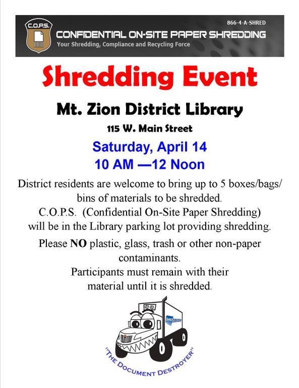 April 2018 Shredding for Village and Bank.jpg