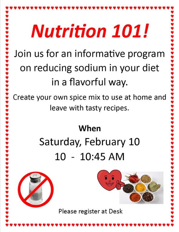 February 2018 Nutrition 101 program Feb 2018.jpg