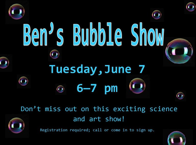 June 2016 Bens Bubble Show.jpg