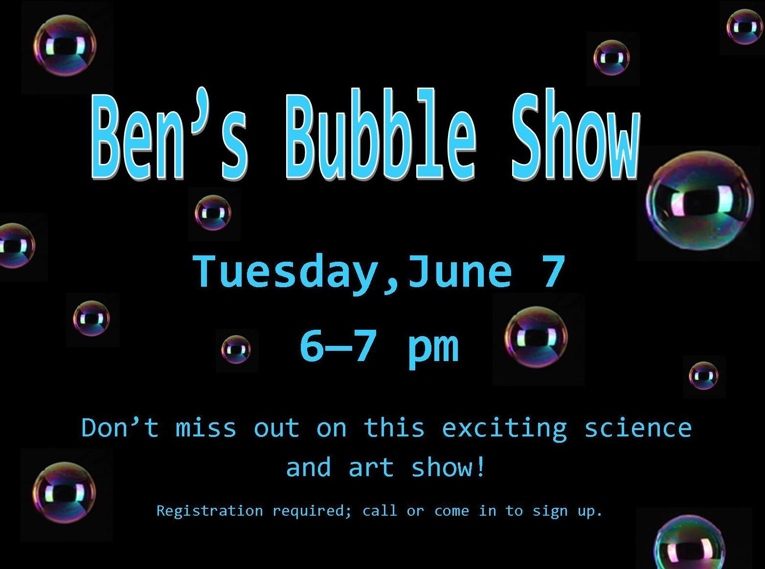 June 2016 Bens Bubble Show.jpg