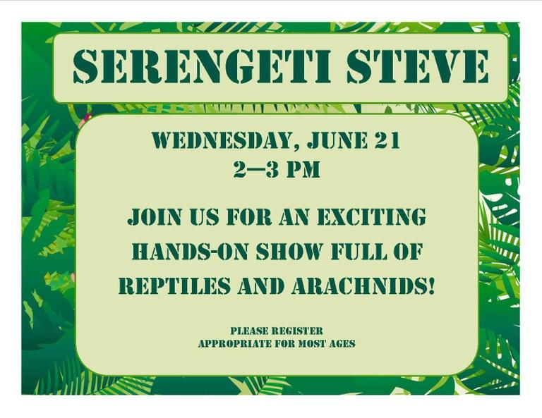 June 2017 Serengeti Steve.jpg